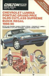 Automotive repair manuals chevrolet lumina pontiac grand prix olds chilton book company repair manual fandeluxe Image collections