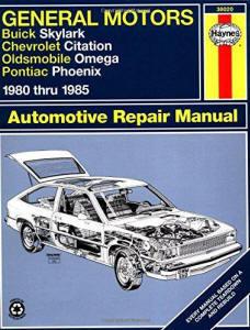Automotive repair manuals gm skylark citation omega phoenix 8085 haynes repair manuals published by haynes manuals n america inc 1996 fandeluxe Image collections