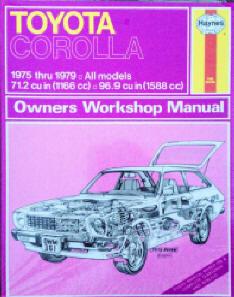 Automotive repair manuals toyota corolla 1975 thru 1979 haynes repair manuals haynes john published by haynes manuals n america inc 1965 isbn 10 0856968528 isbn fandeluxe Choice Image